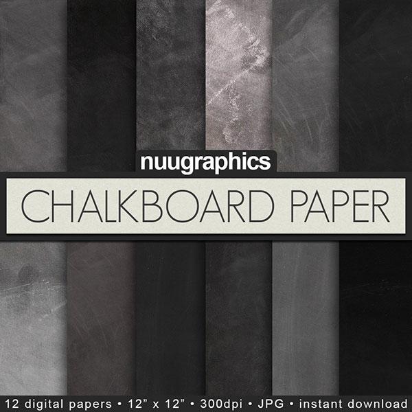 Chalkboard Scrapbook Paper