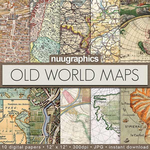 Map Scrapbook Paper