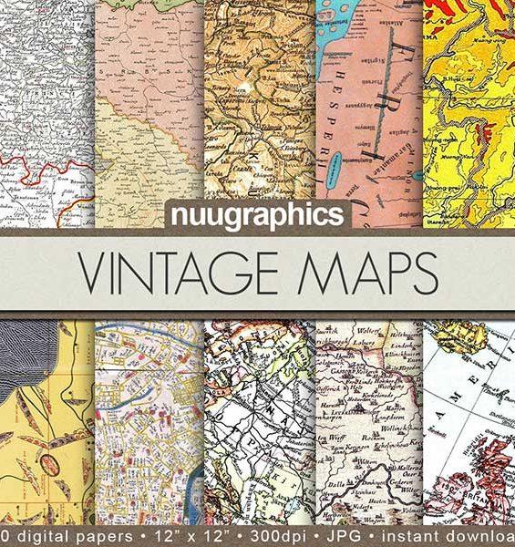 Map Digital Paper